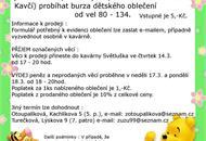 Jarní burza oblečení - Kavárna Světluška Brno Bystrc - AtlasCeska.cz 8c30be957e