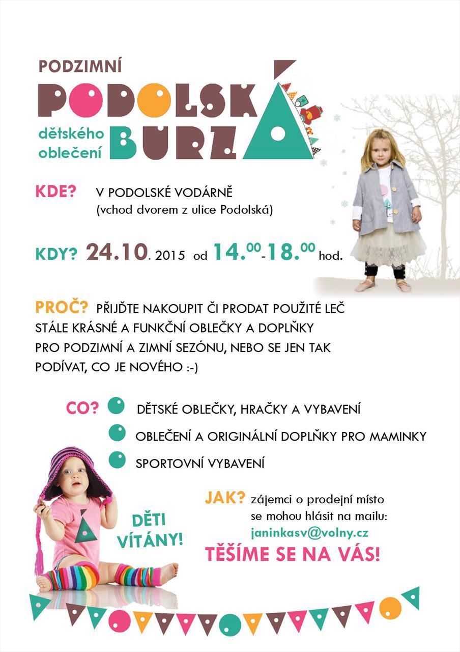 BURZA DĚTSKÉHO OBLEČENÍ v PODOLÍ Praha - AtlasCeska.cz 108ec20439